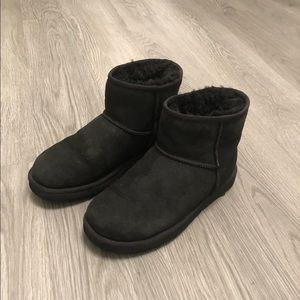 UGG Classic Black Suede Mini Boot size 7